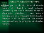derecho religi n y estado