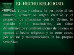 el hecho religioso1
