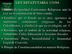 ley estatutaria 133 94