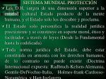 sistema mundial protecci n