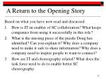 a return to the opening story