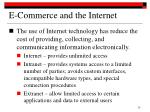 e commerce and the internet