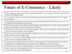 future of e commerce likely
