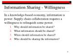 information sharing willingness