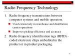 radio frequency technology