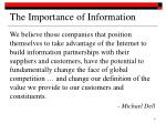 the importance of information1