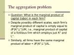 the aggregation problem5