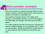 baby powder example