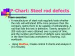 p chart steel rod defects