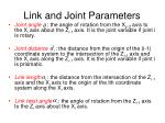 link and joint parameters