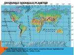 diviziunile oceanului planetar