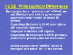 huge philosophical differences1