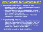 other models for compromise