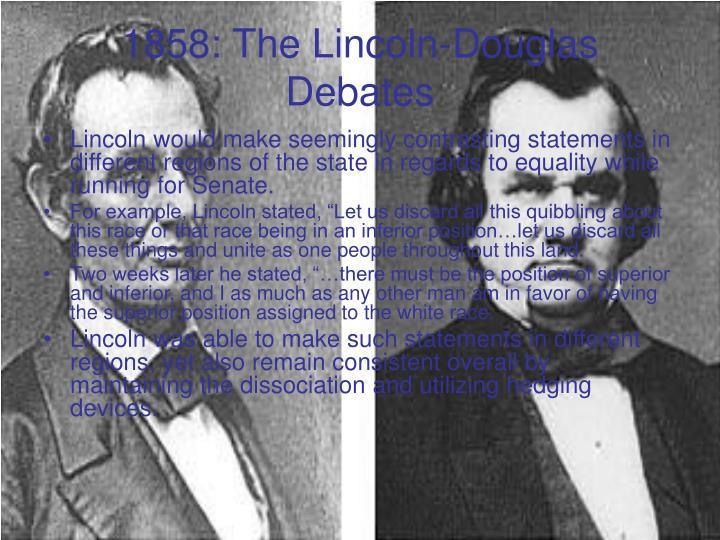 1858: The Lincoln-Douglas