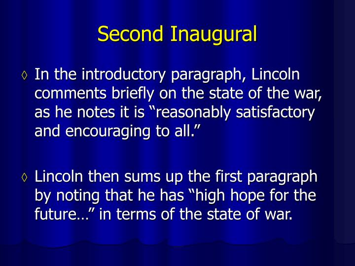 Second Inaugural