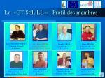 le gt solill profil des membres
