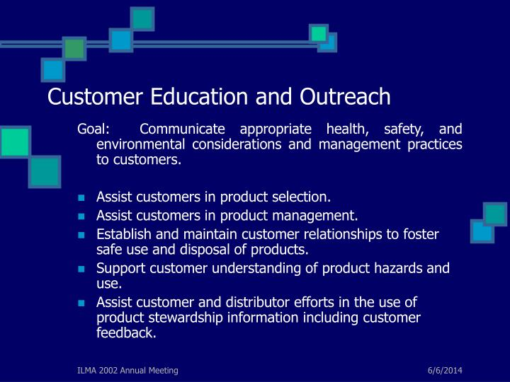 Customer Education and Outreach