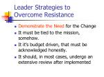 leader strategies to overcome resistance