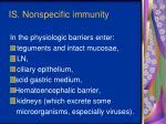 i s nonspecific immunity3