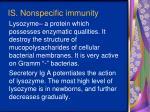 i s nonspecific immunity5