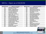 mccs open as of 02 20 09