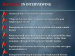 red flags in interviewing