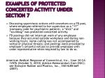 examples of protected concerted activity under section 7