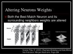 altering neurons weights