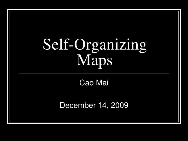 self organizing maps n.