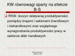 kw r wnowagi oparty na efekcie b s