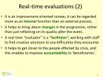 real time evaluations 2