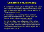 competition vs monopoly