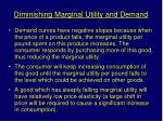 diminishing marginal utility and demand