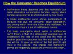 how the consumer reaches equilibrium
