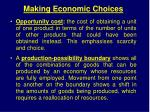 making economic choices