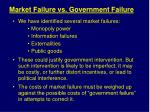 market failure vs government failure
