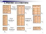 a priori algorithm