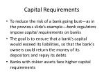 capital requirements
