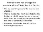 how does the fed change the monetary base term auction facility