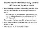 how does the fed indirectly control rd reserve requirements