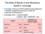 the role of banks in the monetary system leverage