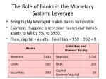 the role of banks in the monetary system leverage1