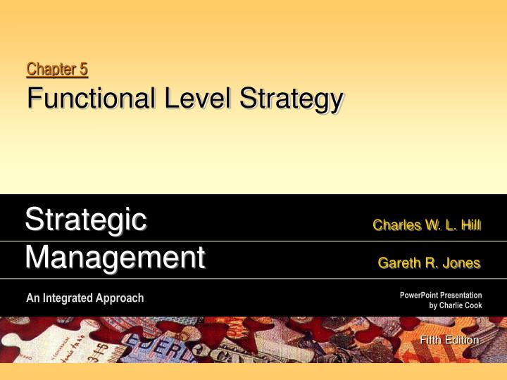 chapter 5 functional level strategy n.