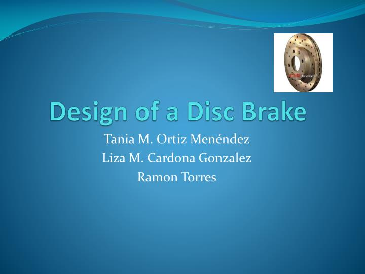 design of a disc brake n.