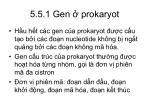 5 5 1 gen prokaryot