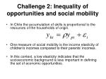 challenge 2 inequality of opportunities and social mobility