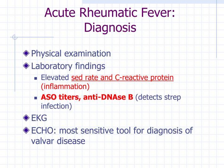 Acute Rheumatic Fever: Diagnosis
