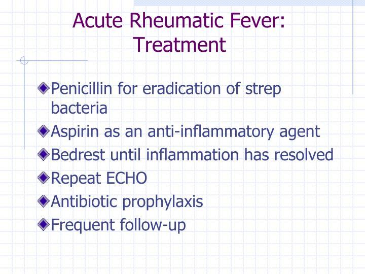 Acute Rheumatic Fever: Treatment