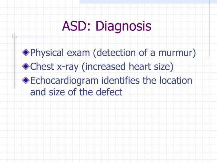 ASD: Diagnosis