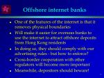offshore internet banks